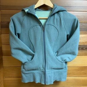 Lululemon Earthy Green Gray Scuba Hoodie Jacket